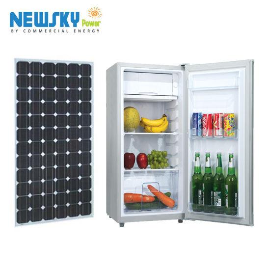 12V/24V DC Compact Refrigerator Double Door Refrigerator Solar Refrigerator