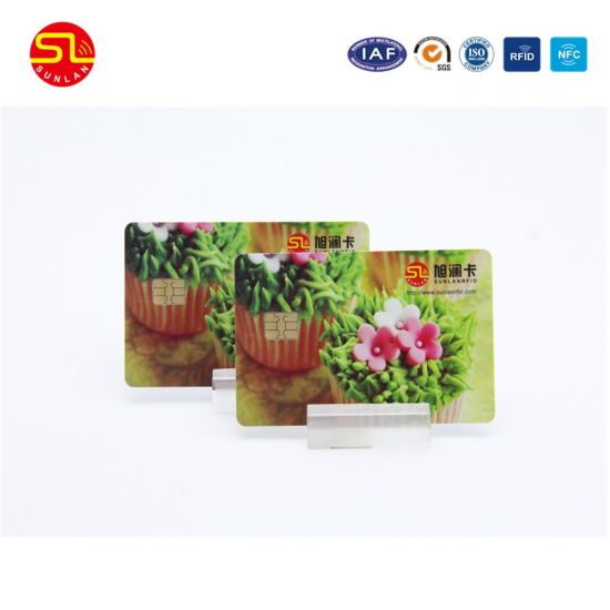 Both Side Printing Contact Issi 4442 4428 Smart IC Card with Magnetic Stripe pictures & photos