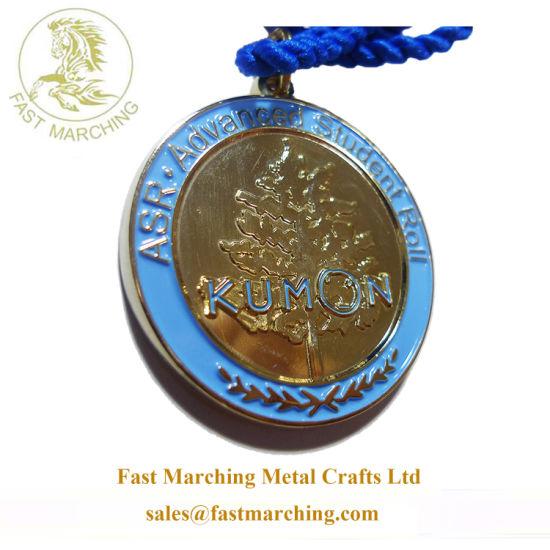 China Custom Masonic Medallion Round Plated Metal Olympic 3D Running