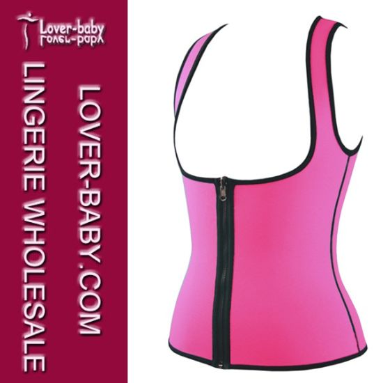Zipper Gym Women′s Neoprene Thermal Ultra Sweat Vest (L42659-1) pictures & photos
