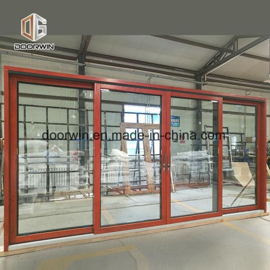 America Style Aluminum Clading Solid Wood Hinged Door, Perfect Aluminum Horizontal Sliding Doors for Villa and Balcony