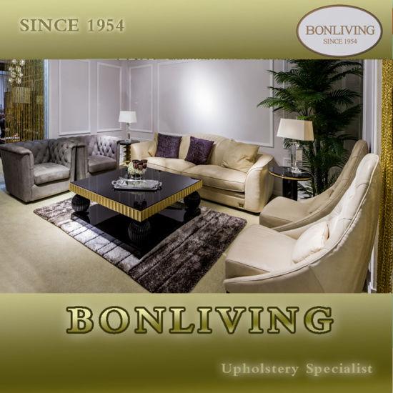 Italian Style Nubuck Leather Upholstered Livingroom Furniture Series (B32)