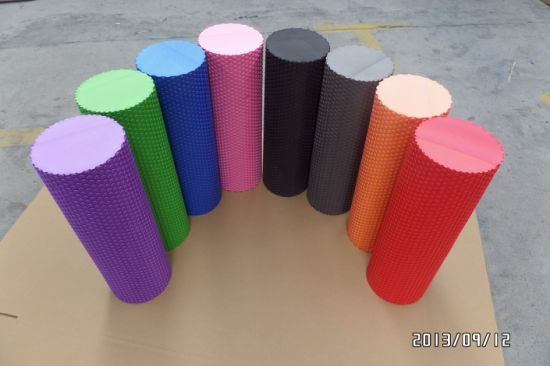 Fitness Equipment Purple EVA Yoga Foam Roller Floating Point pictures & photos