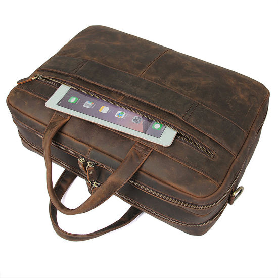 Low Price Good Quality Custom Design Vintage Brown Duffle Bag Leather Travel Bag for Business pictures & photos