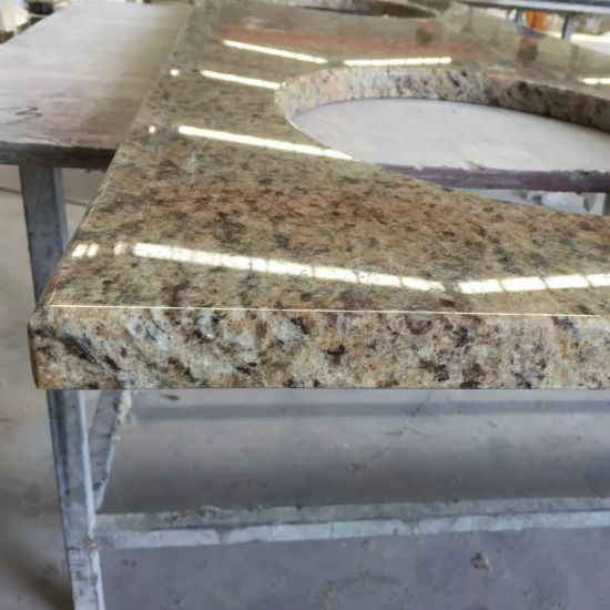Giallo Ornamental Granite Vanity Tops for Bathroom pictures & photos