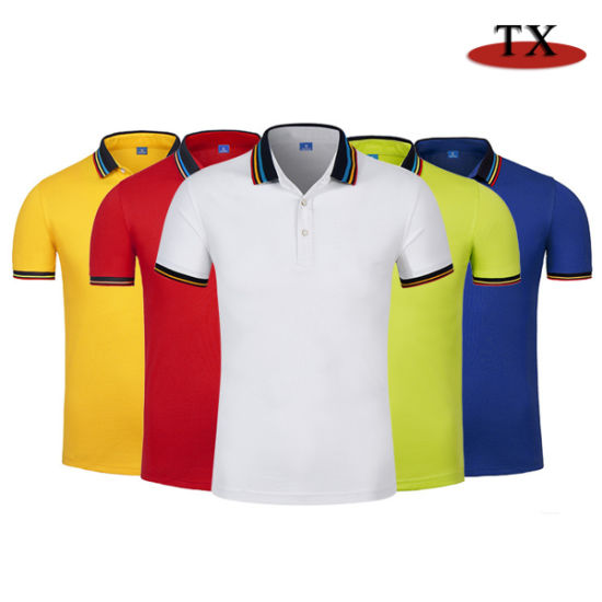 High Quality Promotion Gift Cotton Sports Wear Golf Polo T-Shirt Customized Logo