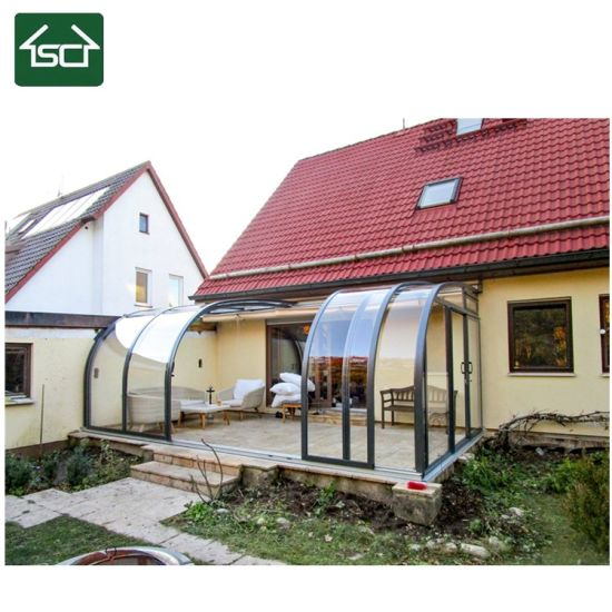 China Retractable Sliding Arched Customized Sunroom And Veranda With Heavy Duty China Cabins And Garden Rooms Cabins Garden Rooms