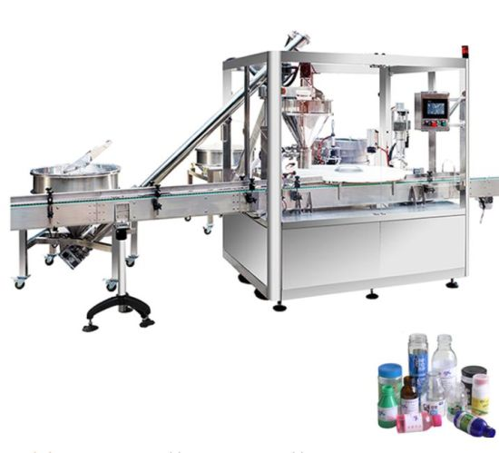 Automatic Vials Powder Bottle Filling Capping Machine, Auger Type Filling Capping Machine