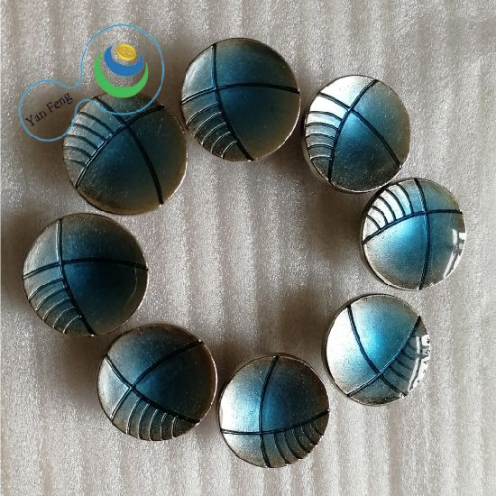 18mm Spraying Fashion Design Metal Alloy Button for Shirt/Jeans/Clothing Accessories (YF4-19)