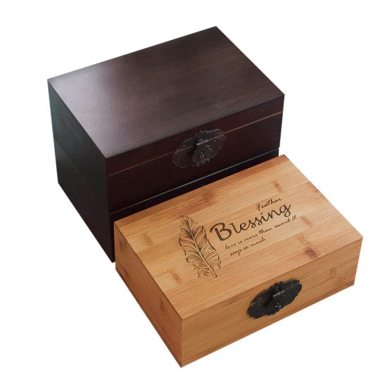 Wholesale Custom Hinged Engraved Small Wooden Box