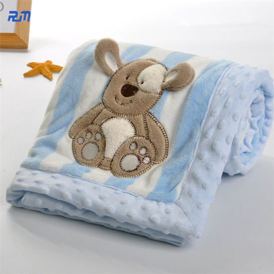 Soft Warm Flannel Gift Mini Blanket for Baby