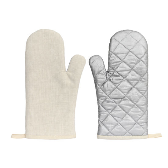 Sublimation Linen Microwave Oven Mitts Heat-Protect Glove Fire Resistant Gloves