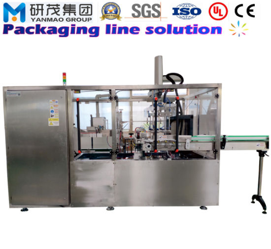 Automatic Top Loading Vertical Case Carton Box Packaging Machine for Food and Medicine Packing with Erecting and Sealing