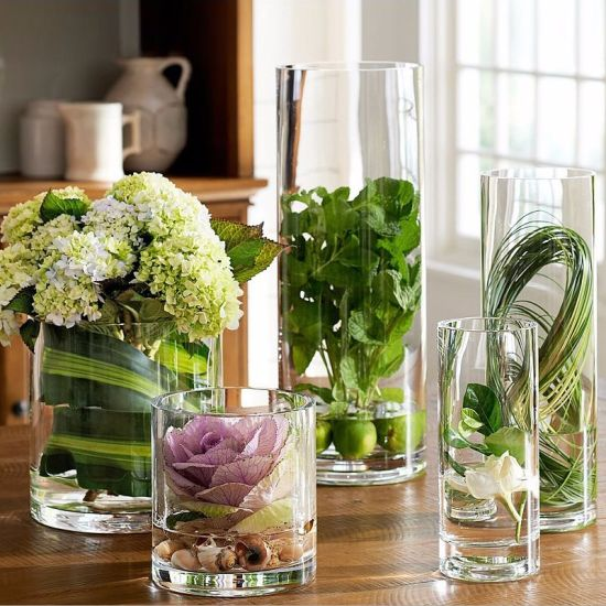 China Crystal Cylinder Glass Vase China Glass Vase Crystal Glass Vase
