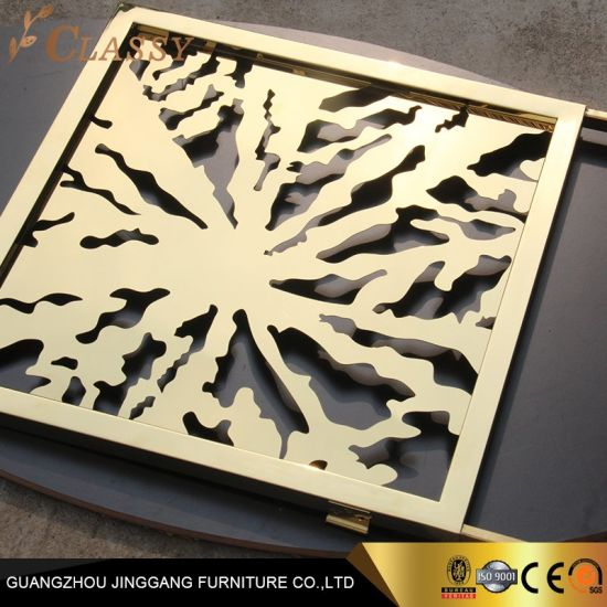 Stainless Steel Perforated Carved Decorative Metal Panel Laser Cut Screen