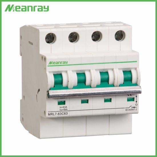 750V DC MCB Solar E Nergy Photovoltaic MCB PV Mini DC Circuit Breaker Mrl7-63