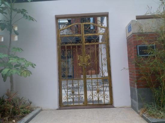 China Good Quality Wrought Iron Gatemetal Dooriron Doorentry Door