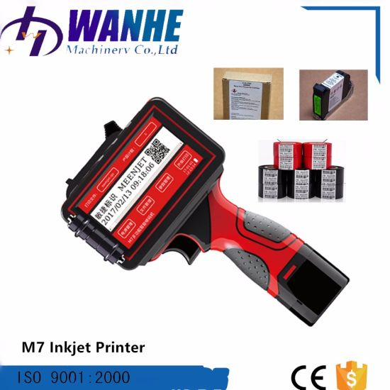 Automatic Portable Handheld Inkjet Coding Printer for Date Batch Printing