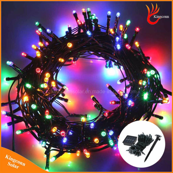 led solar christmas string lights for outdoor fairy holiday decorations lighting