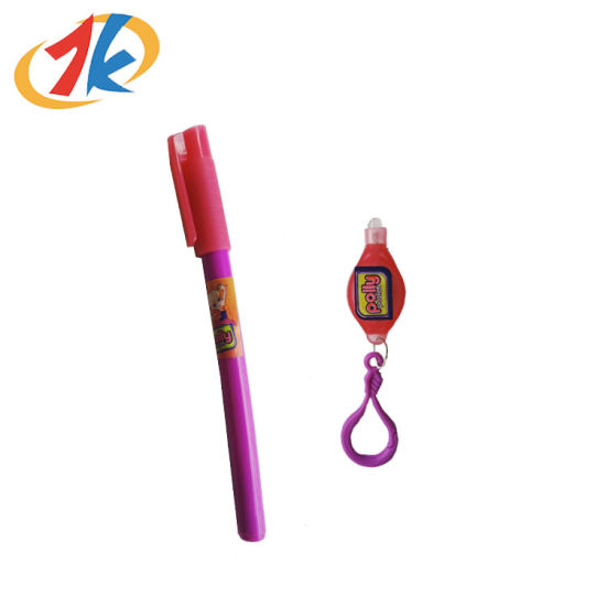 Promotional Secret Pen with UV Light Toy for Child