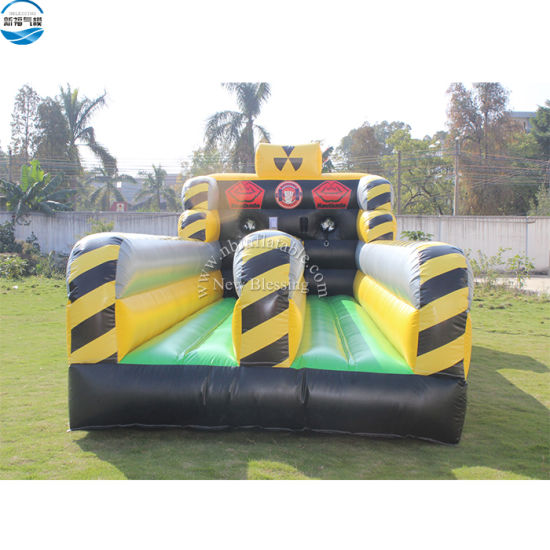 Heavy Duty Inflatable Toxic Bungee Run Game with Bungee Cord, Inflatable Rush Obstacle Course for Sale