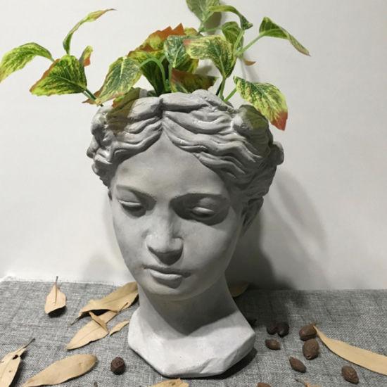 Custom Wholesale Outdoor Garden Large Ceramic Cement Angel Figure Shape Plant Flower Pots