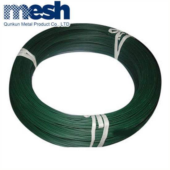China Green Black Color PVC Coated Wire/PVC Iron Wire - China PVC ...