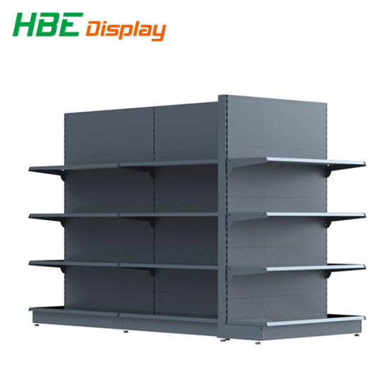 Wooden and Metal Storage Single Sided Display Rack pictures & photos