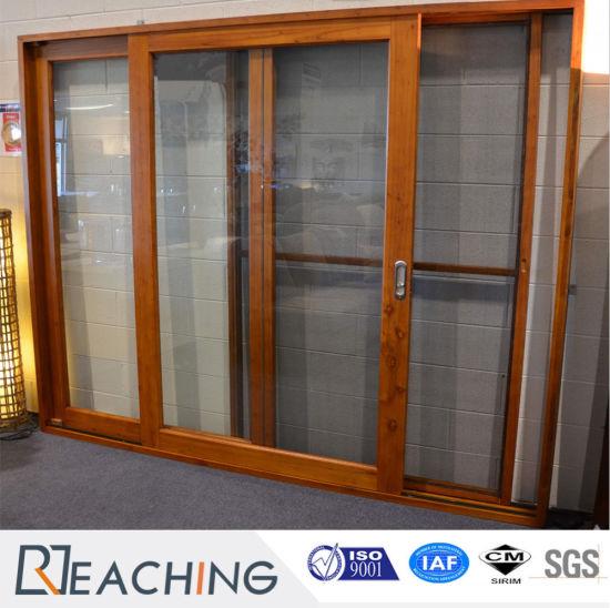 China Hot Sale Double Glass Aluminum Frame Sliding Door Reasonable