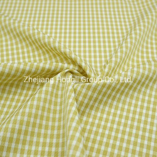 Fabric, Cationic, 90%Polyester 10%Spandex Check Plaid Poly Span Fabric #20012