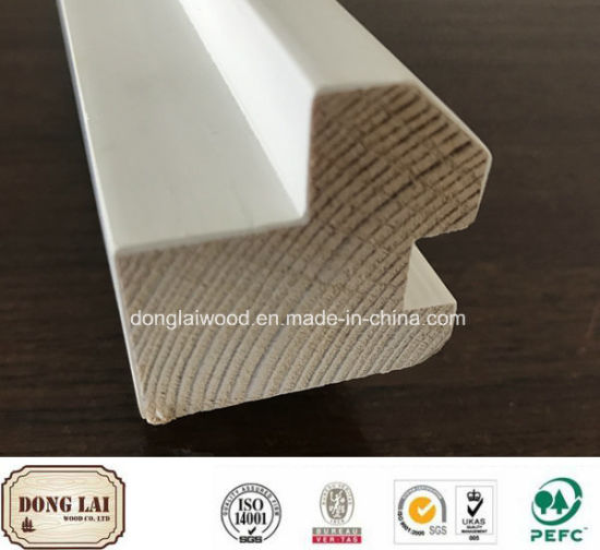 Building Material China Factory Supply High Quality Best Price Wholesale Gesso Coated in Door Chinese Fir Wood Molding pictures & photos