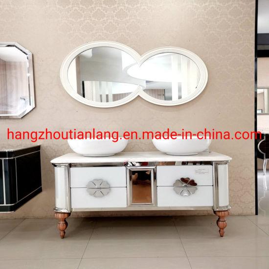 Double Basin 1400mm Hotel Stainless Steel Bathroom Vanities Cabinets