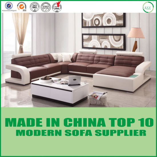 Lounge Corner Leather Sofa Bed Living Room Furniture Sofa