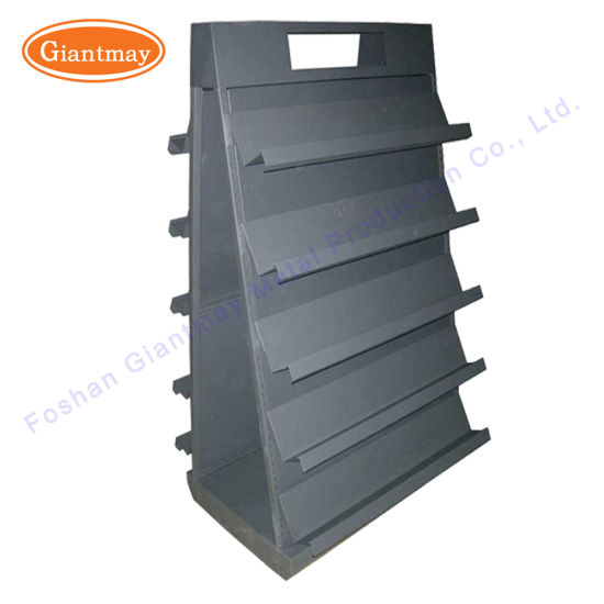 China Metal Single Sided Floor Standing Wrought Iron Book Display Delectable Wrought Iron Display Stands