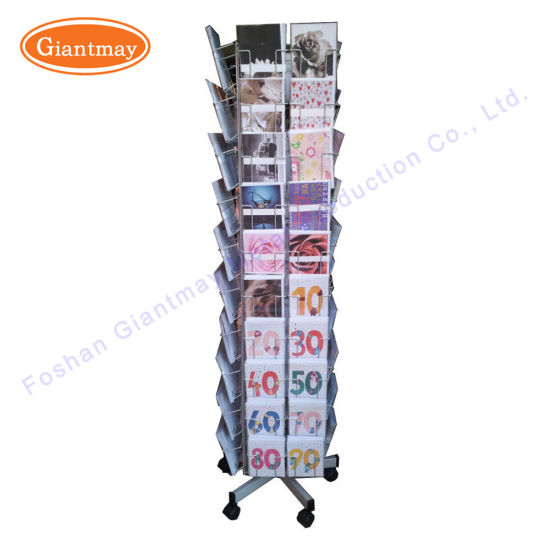 China 4 way rotating greeting card display rack metal christmas gift 4 way rotating greeting card display rack metal christmas gift card display stand with wheels m4hsunfo