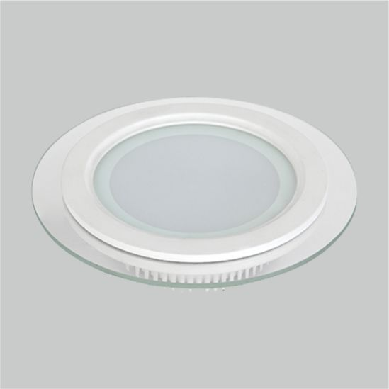 LED Panel Light Round Glass Inside 6W 9W 12W 18W 24W Ceiling Lamp Manufacturer Price Factory Panel Light SMD Down Light