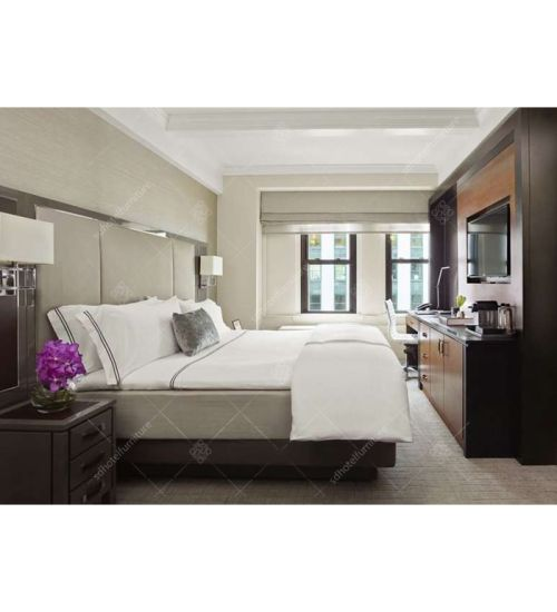 King Size Bed With High Headboard Hotel Furniture Cl 04