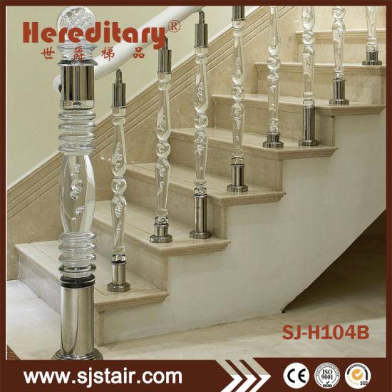 Acrylic Railing Barade For Staircase Pillar And Newel Post