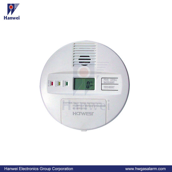 Wall-Hung En50291 Co Alarm with Digital Display, High Quality Electrochemical Sensor
