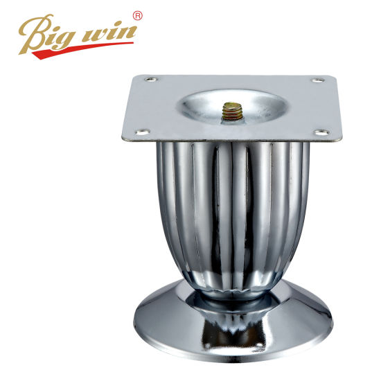 High Quality Furniture For Fittings Chrome Metal Decorative Furniture Legs