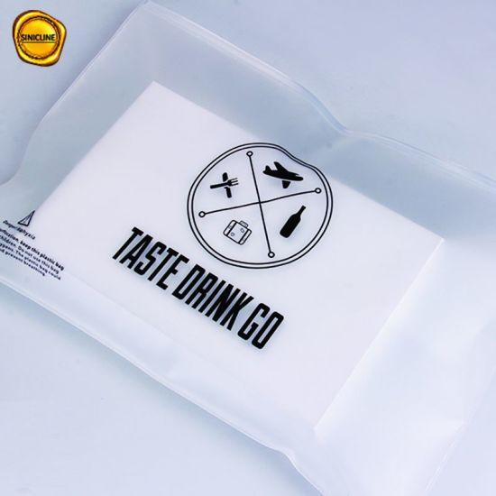 Sinicline Custom Printing 0 2mm Thickness Frosted Eva Ziplock Bag For Garment