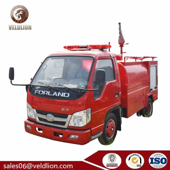 Foton Forland 4X2 Small Mini 3cbm Fire Engine Water Tank Truck, Fire Fighting Truck