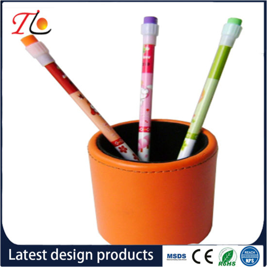PU Desk Pen Holder Office Stationery Pen Container
