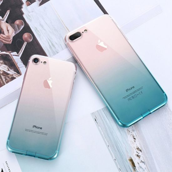 Transparent Mobile Phone Case with Gradient Color Mobile Phone Accessories pictures & photos