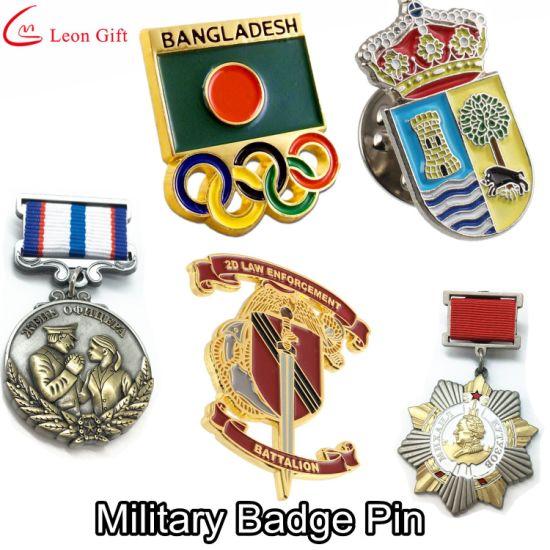 Factory Custom Gold Metal Craft Enamel Badge Lapel Pins