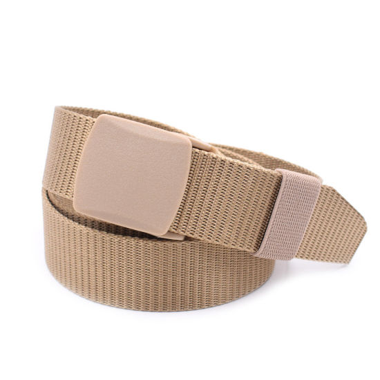 Wholesale New Design Outdoor Tactical Nylon Belt with Plastic Buckle