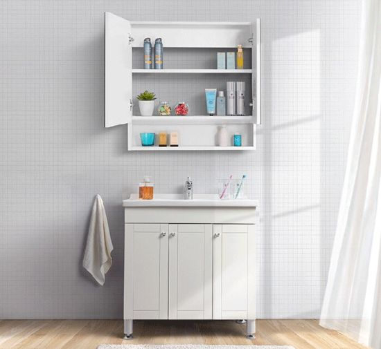 Modern Wholesale White Simple Small Home Wood Standing Bathroom Cabinet (ACS1-W089)