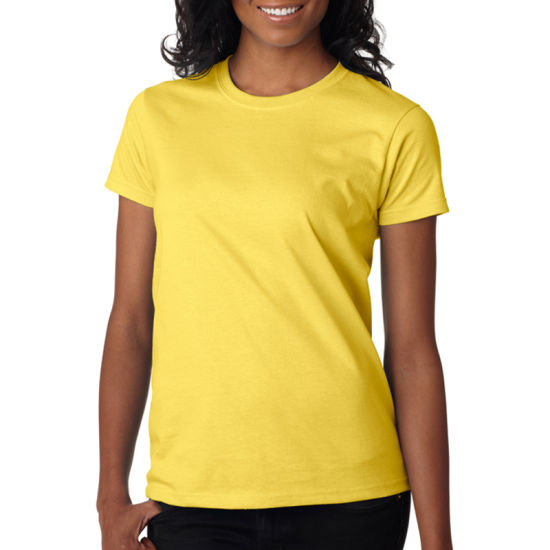 baaa55afd4a OEM Cotton Wholesale Round Neck Blank T Shirts for Women pictures   photos