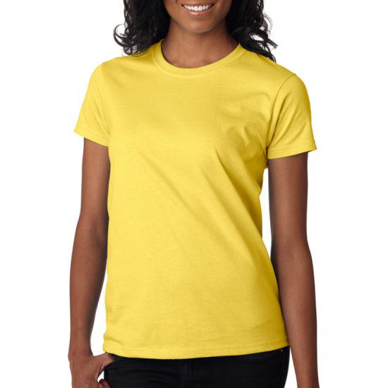 d3b6e7ec2e0 OEM Cotton Wholesale Round Neck Blank T Shirts for Women pictures & photos