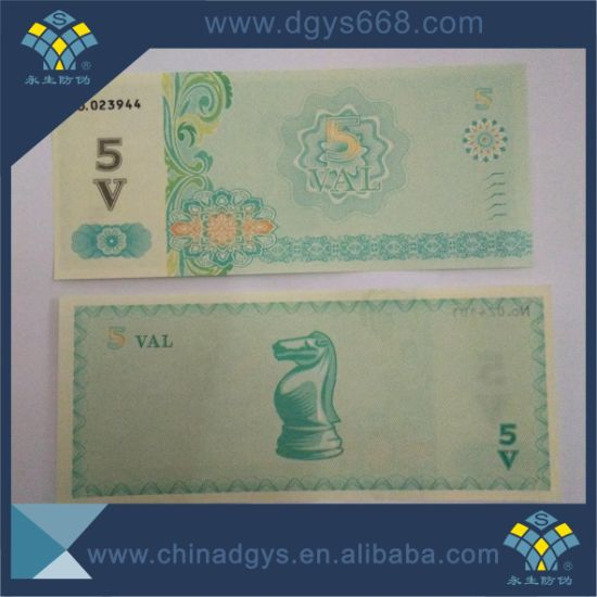 Thermal Paper Embossing Foil Ticket Printing